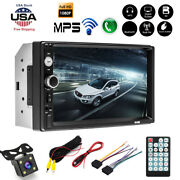 7and039and039 2din Hd Car Stereo Radio Mp5 Player Bluetooth Touch Screen Rear Camera Usa