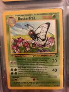 1st Edition Butterfree Pokemon Card 33/64