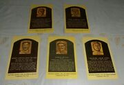 5- Vintage Chicago White Sox Baseball Hall Of Fame Postcard Old Lot Not Used