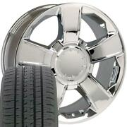 Oew Fits 20x8.5 Wheel Tire Chevy Tahoe Chrome Rims W/tires 5651