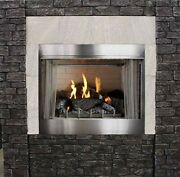 Empire Outdoor Premium 36 Traditional Ip Fireplace With Log Set Ng
