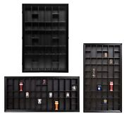 Shot Glass Display Cases Various Sizes Shadow Box With Hinged Door