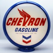 Chevron Gasoline Gas Pump Globe - 13.5 - Ships Assembled Ready For Your Pump