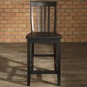 Crosley Furniture School House Bar Stool Black With 24 Seat Height Set Of 2