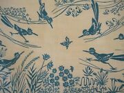 New Vtg Harwood Steiger Tablecloth Turquoise Roadrunners Butterflies Cactus