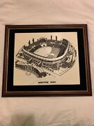 Comiskey Park Vintage Marble Etching From Old Ballpark