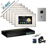 6 Monitor Home Security Apartment Entry Monitoring Ip Video Intercom Kit System