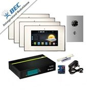 4 Monitor Home Security Apartment Entry Monitoring Ip Video Intercom Kit System