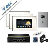 3 Monitor Home Security Apartment Entry Monitoring Ip Video Intercom Kit System