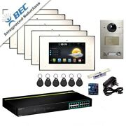 6 Monitor Residential Commercial Monitoring Security Video System Intercom Kit