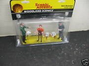 Woodland Scenics A2559 Ned's Newsstand Figure Set New In Package