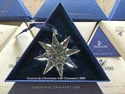 2009 Crystal Christmas Tree Star Ornament Collectible Coa And Box Mint