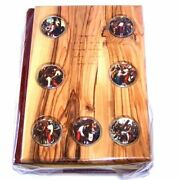 Good News Bible Catholic Edition Olive Wood Cover With Stations Of The Cross