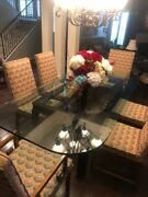 Dining Table Set 8 Chairs, Including 2 With Arms, Vintage Dining Room Chairs