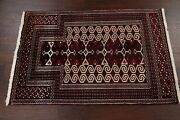 New 3x4 Geometric Balouch Afghanistan Oriental Area Rug Hand-knotted Wool Carpet