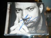 Lionel Richie Signed Time Cd Cover