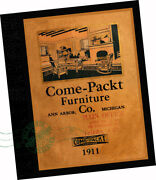 Come Packt Furniture Co 1910 Catalogue Craftsman Mission Style Oak Wood Lighting