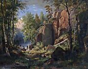 View Of Valaam Island By Ivan Shishkin. Forests Repro Choose Canvas Or Paper