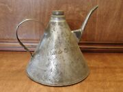 Vintage Railroad Oil Can Cstpmando Ry With Spout And Handle Screw Top Lid Nice