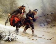 Crossing The Mountain By Bergslien. History Repro Made In U.s.a Giclee Prints