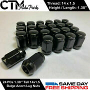 24pc Chrome Ford 2015-2022 F150 M14x1.5 Large Seat Lug Nut Fit Stock Wheel Andmore