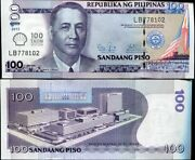 Philippines 100 Pisos Pesos 2013 2014 Comm. 100 Years Taon Shell P 219 Unc