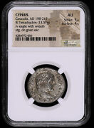 Caracalla 198 - 217 Ad Cyprus Tetradrachm Ancient Greek Coin Eagle With Wreat...