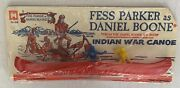 Fess Parker Daniel Boone Indian War Canoe Multiple Products 209 1964 Sealed