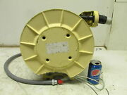 Heavy Duty Aero-motive Weatherproof Electric Cable Reel 50and039 Cord 600v 18 Amp