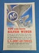 1943 Wwii Original Poster. You Can Have Silver Wings.