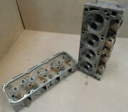 Ford D1ze Da 351c Cylinder Heads Dated K-19and30-71 Pair W/valvesopen Chamber