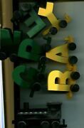 Green Bay Packers 3 Inch Wooden Letters Train Super Bowl Champs Painted 3783m