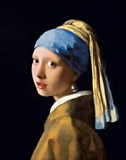 Girl With A Pearl Earring By Johannes Vermeer. People Repro On Canvas Or Paper