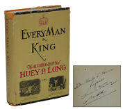 Every Man A King Signed By Huey P. Long First Edition 1933 1st Everyman