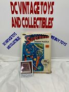 Superman 150 Piece Jigsaw Puzzle Complete Whitman 1966 Mib Space Station