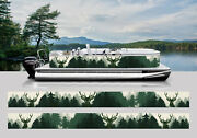 Wrapping Pontoon Replacement Graphics Kit Decal Stickers Boats Forest