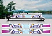 Wrapping Pontoon Replacement Graphics Kit Decal Stickers Boats Rock N Roll