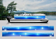 Wrapping Pontoon Replacement Graphics Kit Decal Stickers Boats Waves