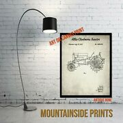 1932 Allis-chalmers Tractor Patent Print - Country Wall Decor - Rustic Wall Art