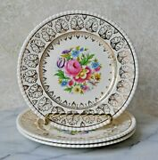 Fondeville Athlone Soliam Ware Simpsons Floral 777 Set 3 Bread And Butter Plates