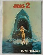Jaws 2 Movie Program 1978 9 X 12 Inches 16 Interior Pages Souvenir