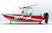 Graphic Kit Decal Fishing Diving Boat Wrap Seadoo Speedster Sportster