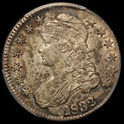 1832 U.s. Capped Bust Small Letters Silver Half Dollar Coin - Pcgs Au 55