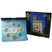 San Marino Kms 2004 St 1 Cent - 2 Euro Commemorative Coin In Folder