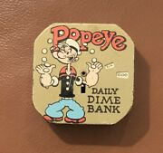 Popeye Daily Dime Bank 1956 King Features