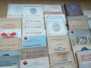 Rare Ussr A Collection Of 49 Books And Brochures I.v.stalin Cталин 1934-1952