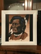 Original Painting By Kettle Point Artist Bill George Of An Chief