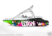 Graphic Kit Decal Boat Sportster Sea Doo Speedster Sport Wrap King Of Wake