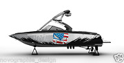 Graphic Kit Decal Boat Sport Wrap Seadoo Wake Board Punisher Flag Usa Deco