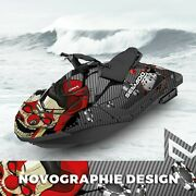 Seadoo Spark Trixx Bombardier 2up + 3up Jet Ski Graphic Kit Decal Wrap Poker